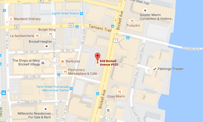 Brickell Dental Associates Map